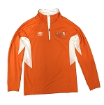 Umbro Men's Quarter Zip Jacket - Orange