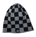 Umbro Checkered Uncuffed Knit Cap - Grey/Black