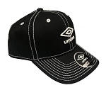 Umbro Low Crown Curved Snapback Cap - Black