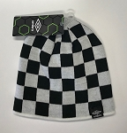 Umbro Checkered Uncuffed Knit Cap - White/Black